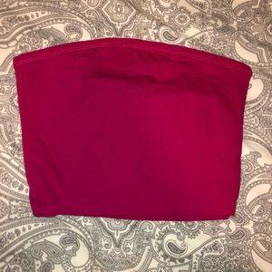Pink tube top